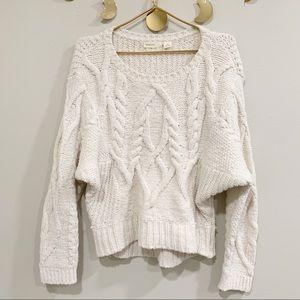 Anthropologie Sleeping On Snow. White Knit Sweater
